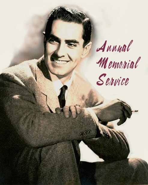 Tyrone Power's Annual Memorial Service